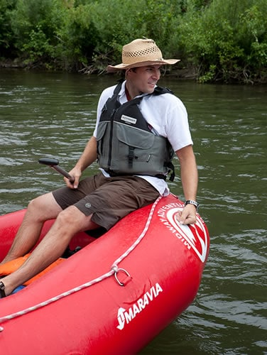 River guide on the Provo River