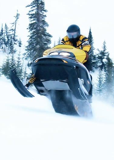 Adventurous snowmobiling