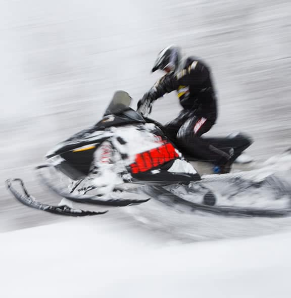 Snowmobiling having a blast